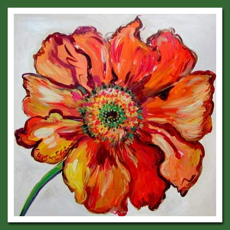 """Orange Oriental Poppy"" by Suzanne Etienne"