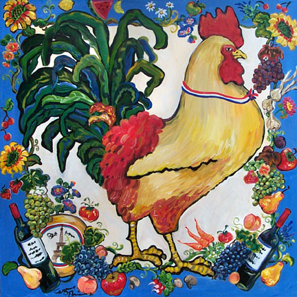 Bonjour Rooster by Suzanne Etienne