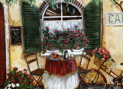 Cafe by Suzanne Eteinne