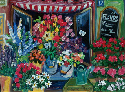 Flower Shop Window by Suzanne Etienne