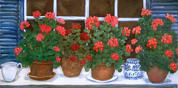 Geraniums by Suzanne Etienne