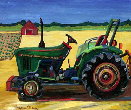 """Green Tractor"" by Suzanne Etienne"