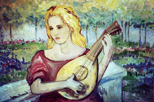 """Mandolin Girl"" by Suzanne Etienne"