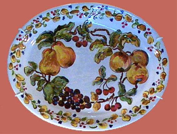 Pear Grape Plate by Suzanne Etienne