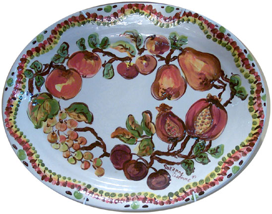 Pomegranate Plate by Suzanne Etienne