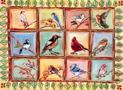"""Quilt of Birds"" by Suzanne Etienne"