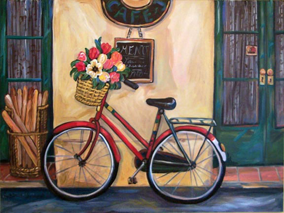"""Red Bike"" by Suzanne Etienne"