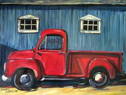 """Red Truck"" by Suzanne Etienne"