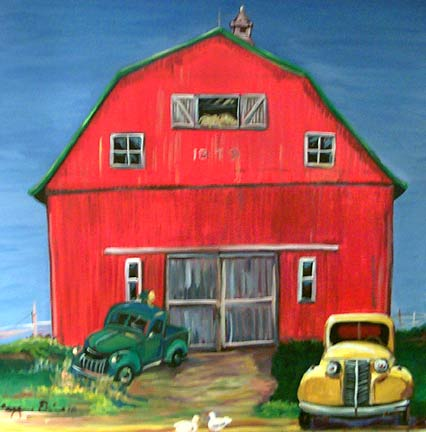 """Red Barn"" by Suzanne Etienne"