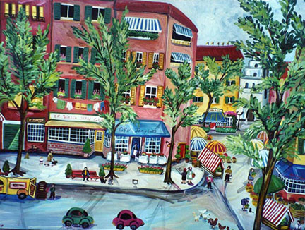 """Rue de Paris"" by Suzanne Etienne"
