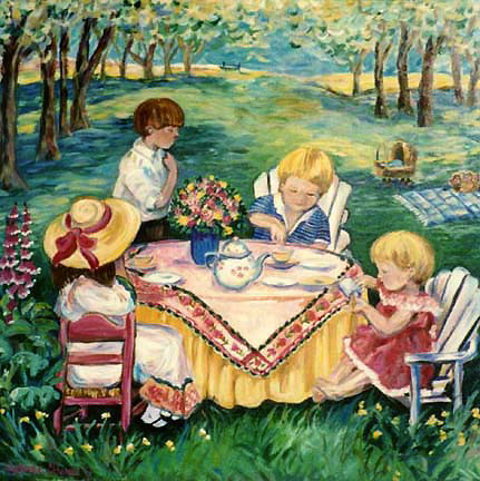 """Tea Party"" by Suzanne Etienne"