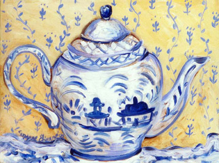 """Teapot - Delft"" by Suzanne Etienne"