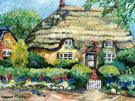"""Thatch Cottage"" by Suzanne Etienne"